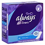 Always Dri-Liners Pantiliners, Regular, Unscented, 50 ct.