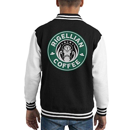 Rigellian Coffee Simpsons Starbucks Kid's Varsity Jacket