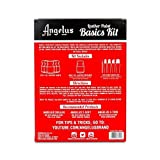 Angelus Leather Paint Basics Kit, Contains 1 Ounce Bottles of Black, White, Red, Blue, Yellow and Preparer, Plus a 5-Piece Angelus Brush Set (799-01-KIT) (Color: Limited Edition)