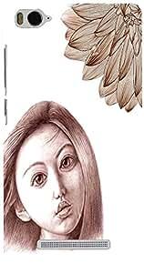 PrintVisa Girly Sad Sketch Case Cover for Xiaomi Mi 4c
