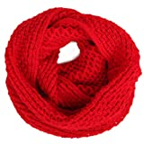 HDE Womens Pashmina Blend Chunky Ribbed Knit Winter Infinity Circle Scarf Cowl