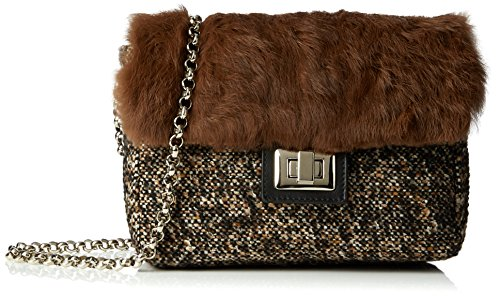 CASTAÑER B. Oslo Mini-Tweed Fur - Borsa da donna, marrone (tweed), taglia unica