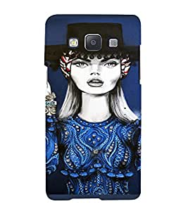 PrintVisa Beautiful Girl Art 3D Hard Polycarbonate Designer Back Case Cover for Samsung Galaxy A7