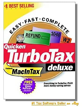 2000 TurboTax Mac Deluxe Federal Intuit Turbo Tax