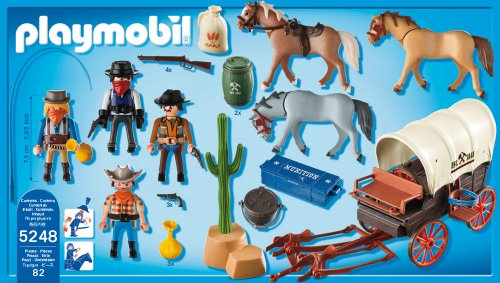 kids toys planet playmobil oeste caravana con bandidos. Black Bedroom Furniture Sets. Home Design Ideas