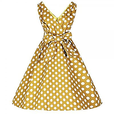 Lindy Bop 'Orchid' 1950's Vintage Inspired Polka Dot Swing Dress