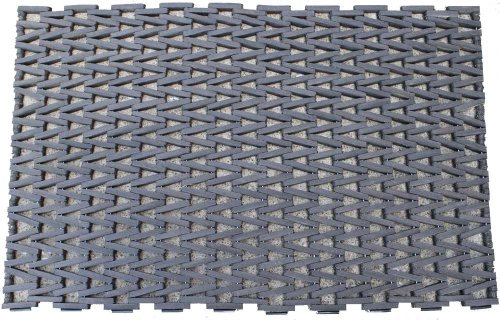 "Durable Corporation 108H2460 Recycled Rubber Durite 108 Tire Link Mat, Herringbone Weave without Nosing, 60"" L x 24"" W x 5/8"" Thick, For Commercial Kitchen, Industrial and Factory"