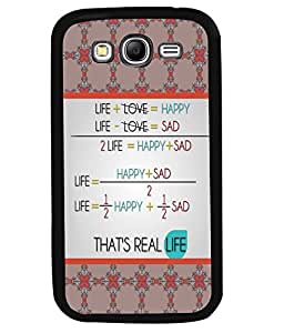 PRINTVISA That's Real Life Premium Metallic Insert Back Case Cover for Samsung Galaxy Grand Neo Plus - D5944