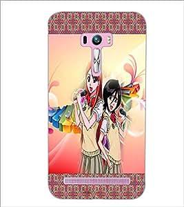 PrintDhaba Singing Girls D-2486 Back Case Cover for ASUS ZENFONE SELFIE ZD551KL (Multi-Coloured)