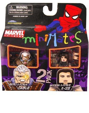 Picture of Art Asylum Marvel Minimates Series 32 Mini Figure 2Pack Retro XForce Cable Modern XForce X23 (B0034L0J1W) (Marvel Action Figures)