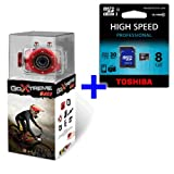 Bundle EasyPix GoXtreme Race Action HD Cam Outdoor & 8 GB MicroSDHC Class 10