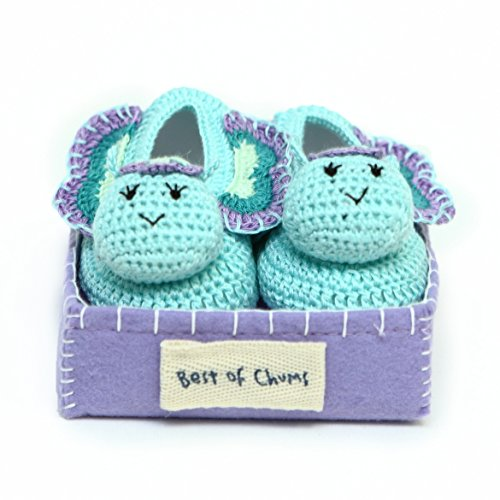 Best of Chums Baby Crochet Bootie Butterfly