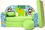 Z16+ Kindersofa Ausklappbar Schlafsofa Couch Sofa Minicouch 3 in 1