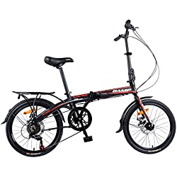 "Camp 20"" Alloy 7 Speed Folding Bike Disc Brake Super Sonic"