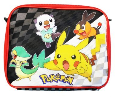 Pokemon School Insulated Lunch Bag Black and White Sanck Bag - Pikachu - 1