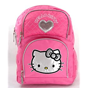 "Hello Kitty Sanrio Girls 16"" Pink Backpack w/ Heart"