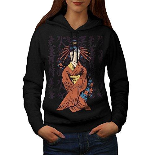 beautiful-east-woman-japan-art-women-new-black-m-hoodie-wellcoda