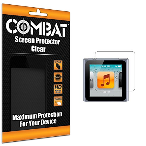 Cell Accessories For Less (Tm) Combat 6 Pack Hd Clear Screen Protector For Apple Ipod Nano 6Th Generation + Bundle (Stylus & Micro Cleaning Cloth) - By Thetargetbuys