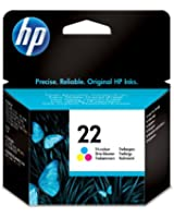 HP 22 Cartouche d'encre d'origine Cyan Magenta Jaune