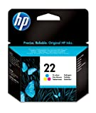 HP 22 Cartouche d'encre d'origine Cyan Magenta Jaune...