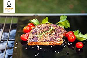 Chubby Chefs BBQ Grill Mat & Oven Liner - Excellent as Baking Mat & Barbeque - Keeps Grill/Oven Clean Dishwasher Safe & Saves Time - Set of 2 - Non Stick Extra Large Thick & High Quality Teflon - 2 pack - Gas Grills & Charcoal - Superb 7 Year Guarantee - Limited Offer