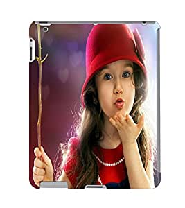 Fuson 3D Printed Cute Baby Designer Back Case Cover for Apple iPad 3 - D734