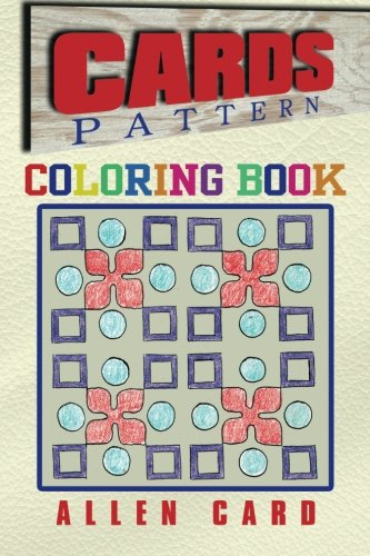 Cards Pattern Coloring Book