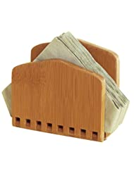 Lipper Bamboo Collection Adjustable Napkin Holder by Lipper International
