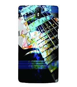 PrintVisa Music Guitar 3D Hard Polycarbonate Designer Back Case Cover for One Plus One
