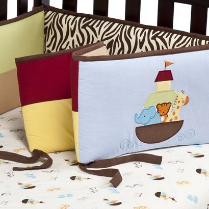 Tiddliwinks Noah's Ark All Around Crib Bumper - 1
