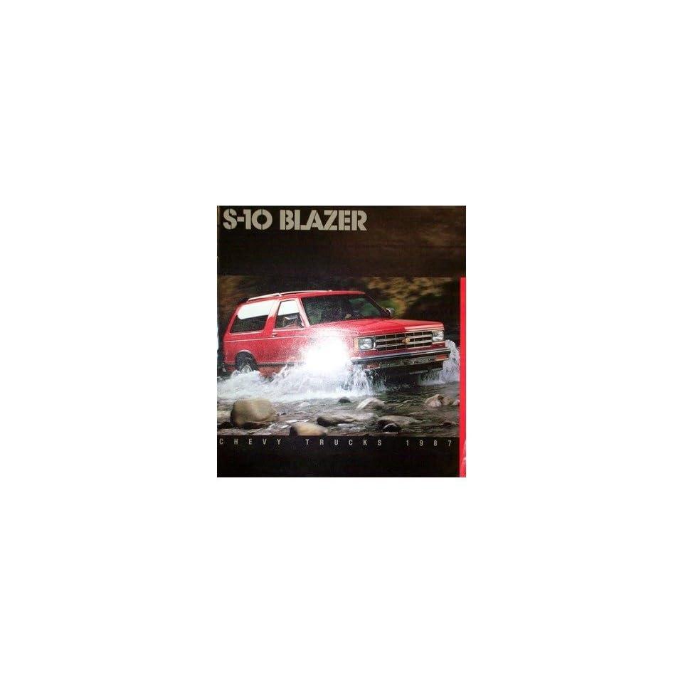 1987 Chevrolet S 10 Blazer Sales Brochure Literature Book Piece Specs Options Automotive