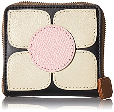 Orla Kiely Square Flower Applique Square Zip Purse Wallet by Orla Kiely