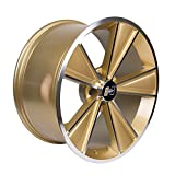 Hurst Dazzler Gold Accent/Clear Coat Wheel with Mirror Machined Face (20x10