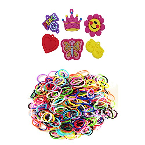 Loom Rhinestone Connector Charms Minnie Mouse, Hearts, Flowers, Butterfly, Peace with over 600 Bands