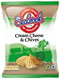 Seabrook Crinkle Cut Potato Cream Cheese and Chives Flavour Crisps 31.8 G (pack Of 48)