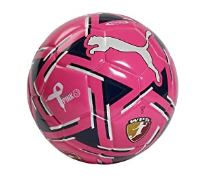 Puma WPS King (Fifa Approved) Soccer Ball, Fluo Pink-Blue-White, 5