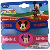 Disney Mickey Mouse Clubhouse 2pc Rubber Bracelet Set Mickey And Minnie Mouse Kids Bracelet Set