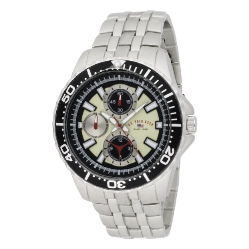 U.S. Polo Assn. Men's US8423 Yellow Dial Silver-Tone Bracelet Watch