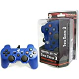 HYDRA PERFORMANCE® CostBuy PS3 WIRED CONTROLLER FOR SONY PLAYSTATION 3 / PC CONTROLLER BLUE GAME PAD