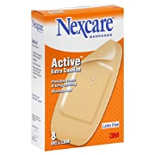 Nexcare Active Bandages, Extra Cushion, Knee & Elbow, 8 ct.