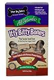 Three Dog Bakery Itty Bitty Bones, Baked Dog Treats, 12 ounces, Peanut Butter