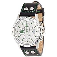 [ハンティングワールド]Huntingworld 腕時計 アンセクト ブラック×グリーン 黒革 クォーツ メンズ HW916SIBK メンズ 【正規輸入品】