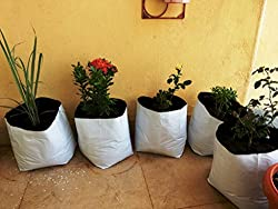Cocogarden Medium SIZE POLY GROWBAGS - UV STABILIZED - 8 Qty [24cms(L)x24cms(W)x40cms(H)]