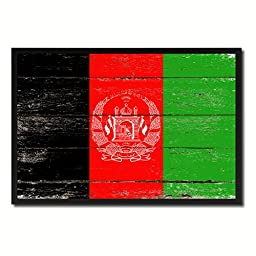 Afghanistan National Shabby Chic Flag Art Canvas Print Wall Home Décor Interior Design Souvenir Gift Ideas