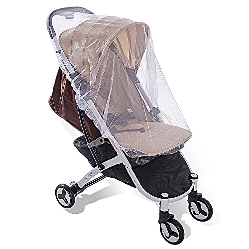 Newdora Baby Mosquito Net for Strollers, Carriers, Car Seats, Cradles. Fits Most Pack'n'Plays, Cribs, Bassinets & Playpens. 150x120CM, Portable & Durable Baby Insect Netting