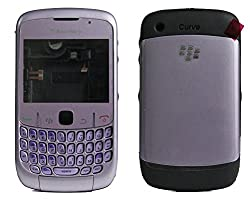 Blackberry Curve 8520 Full Housing Body Panel Faceplate Purple FREE SIM ADAPTER