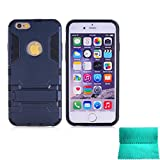 iPhone 6S Plus,iPhone 6 Plus Case,Moment Dextrad [Non-Slip][Shockproof]][Stand Feature]Dual Layer Armor Defender Shock Absorption Cover for iPhone 6/6S Plus 5.5 inch (Blue-black)