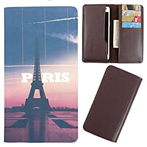 DooDa - For Njoy-X E6 PU Leather Designer Fashionable Fancy Case Cover Pouch With Card & Cash Slots & Smooth Inner Velvet