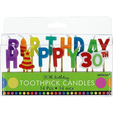 30th Birthday Cake Pick Candles