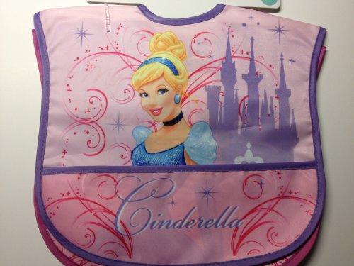 Disney Princess Cinderella Belle 2 Count Waterproof Bib Set